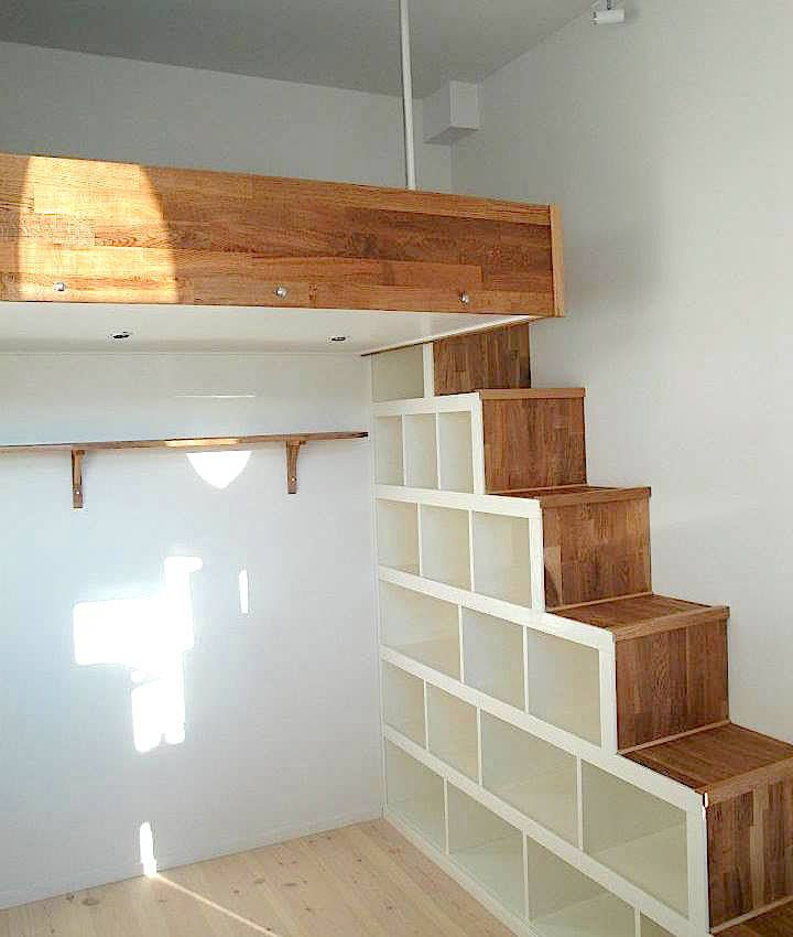 Bed Over Stair Box With Storage And Stairs: Loft Beds Box Room
