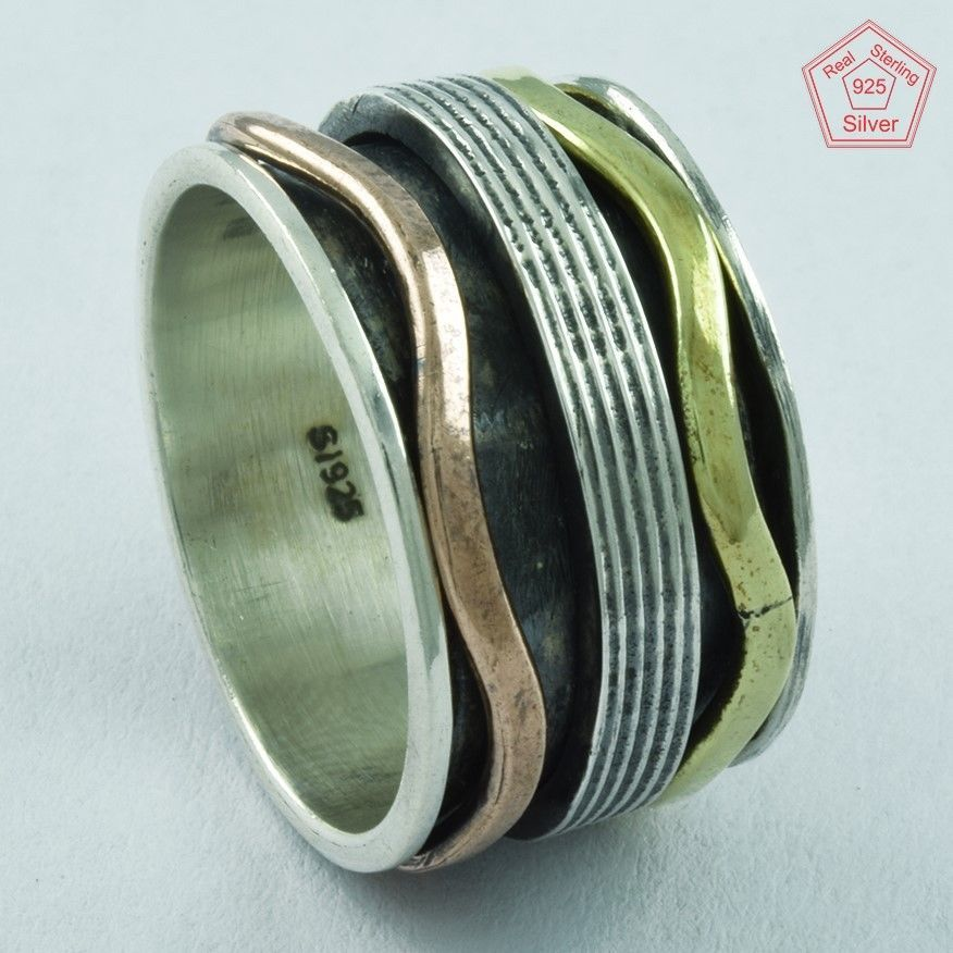 NEW CLASSY LOOK 925 STERLING SILVER SPINNER RING,R5032 #SilvexImagesIndiaPvtLtd #Spinner #AllOccasions