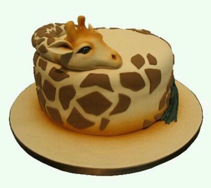 Giraffe cake I need this for my birthday Animalitos de la