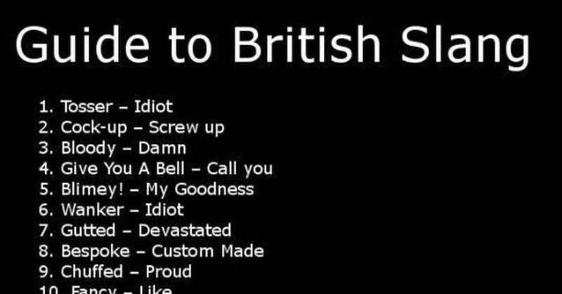 Brit Slang