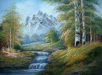 Mountain Scenery Painting Scenery Paintings Scenery Pictures Scenery