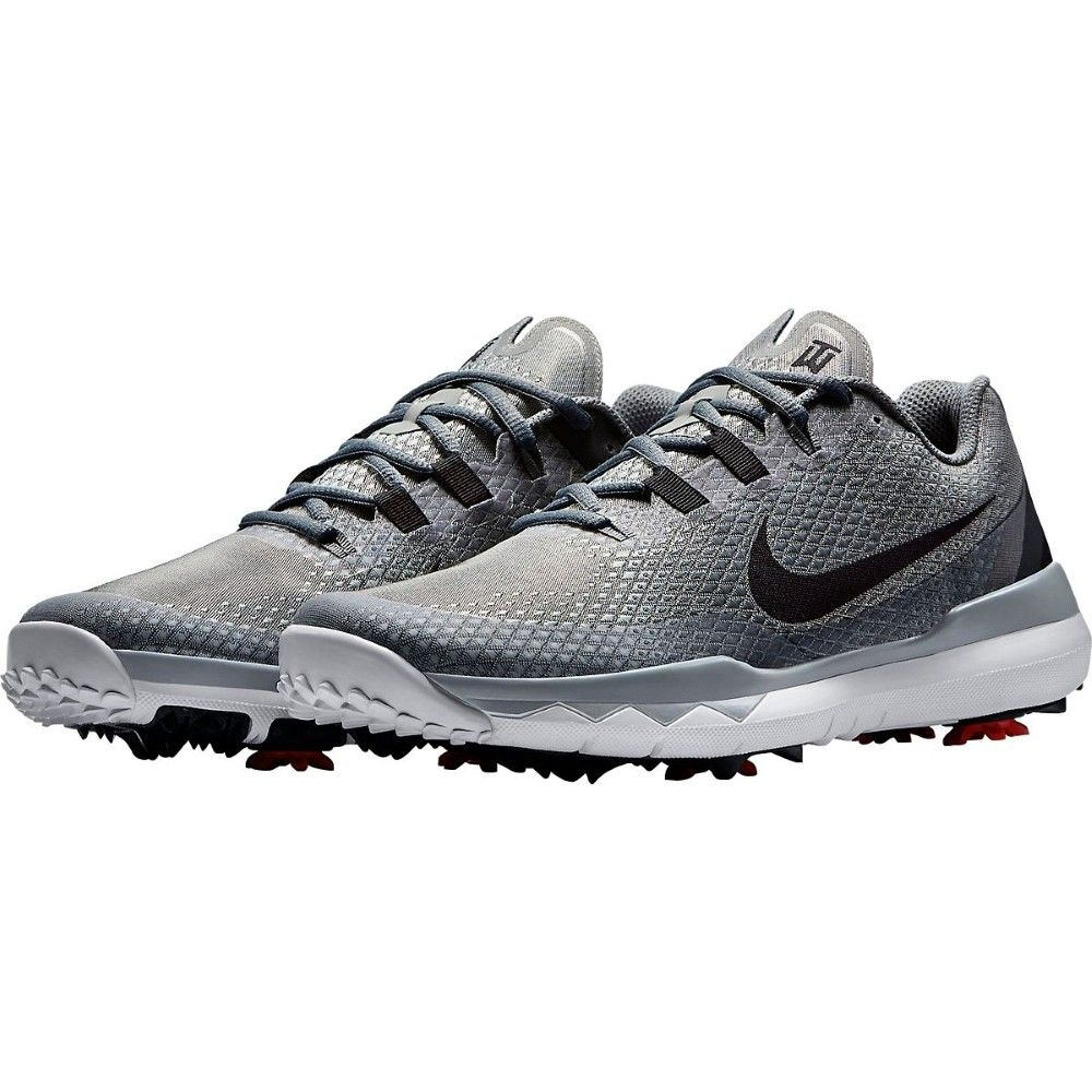 Nike Men's TW15 Golf Shoes - Metallic Silver/Black/Clear Grey - Fathers Day