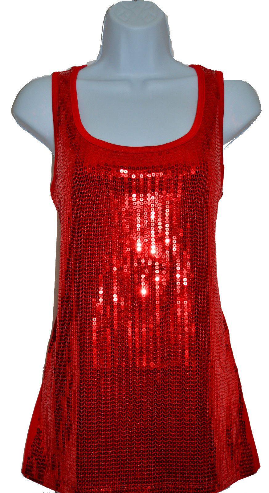 032167707d4772 Sequin Tank Top Vest Sizes 12