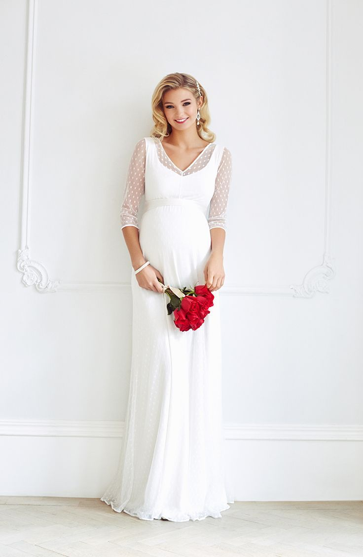 silvia maternity wedding gown ivory  maternity wedding