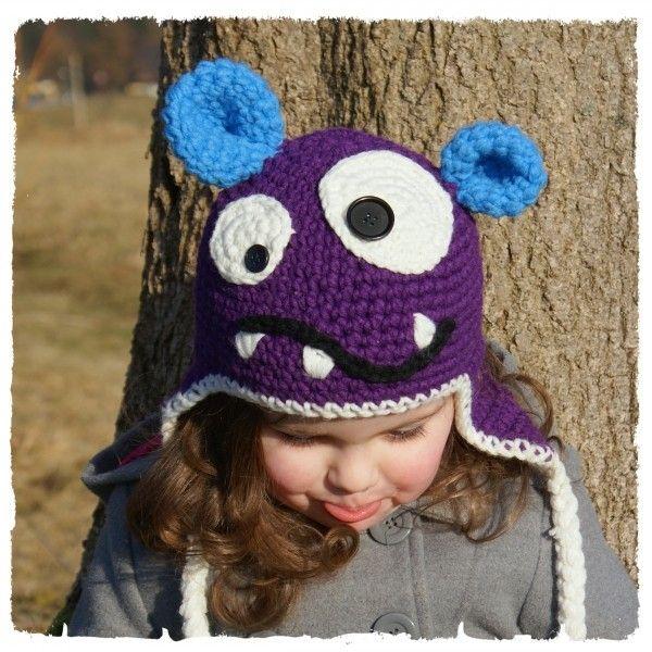 Monster Mütze Selber Häkeln Diy Monstermütze Kostenlose Muster