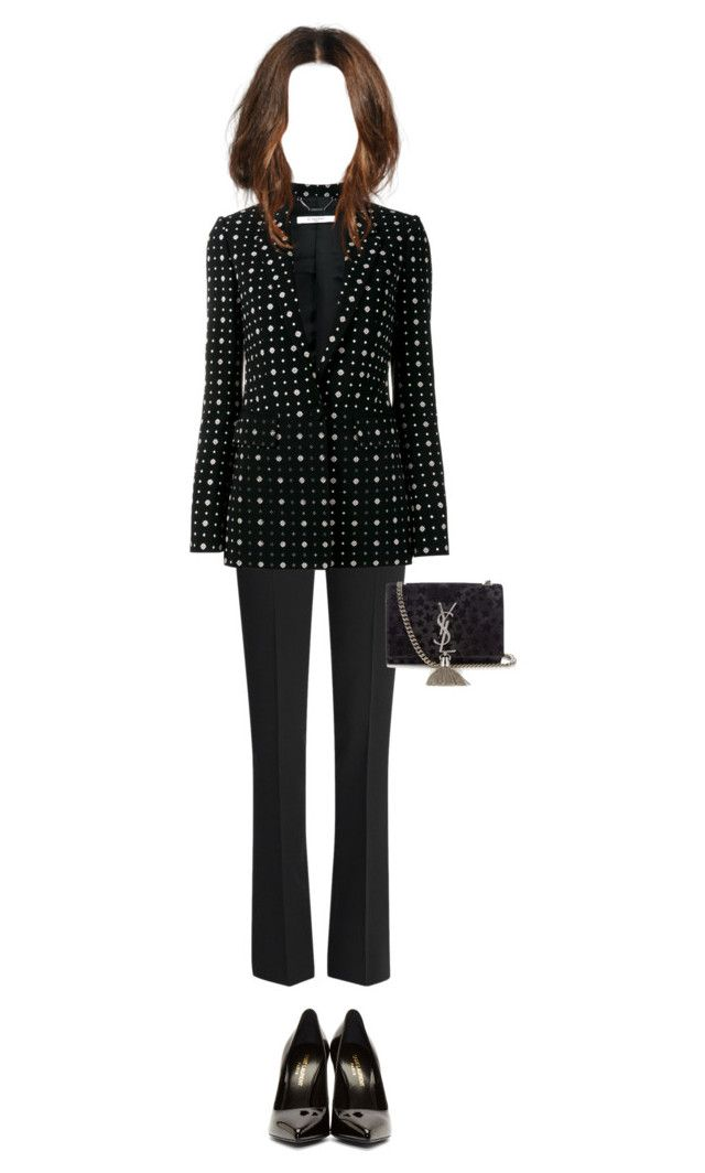 """suit up"" by julie-elisabeth-thrane ❤ liked on Polyvore featuring Emilio Pucci, Givenchy and Yves Saint Laurent"
