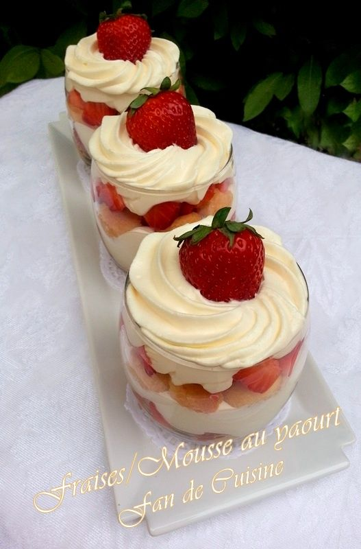 Verrines Fraises/Mousse au yaourt