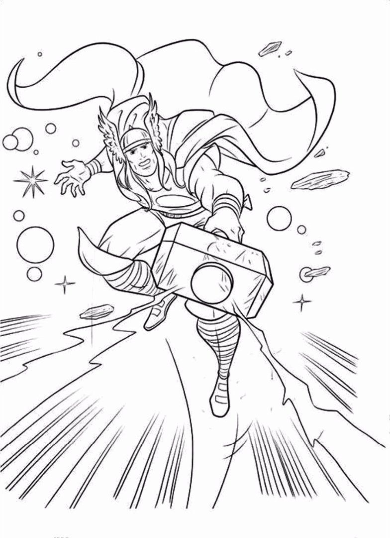 Color Art Coloring Book Fresh Thor Coloring Pages In 2020 Superhero Coloring Pages Superhero Coloring Avengers Coloring Pages