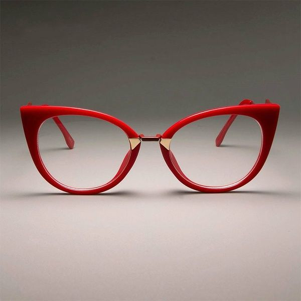 Photo of 4 Colors Ladies Sexy Red Cat Eye Glasses Frames for Women GORGEOUS Clear Lens Optical EyeGlasses Fashion Eyewear