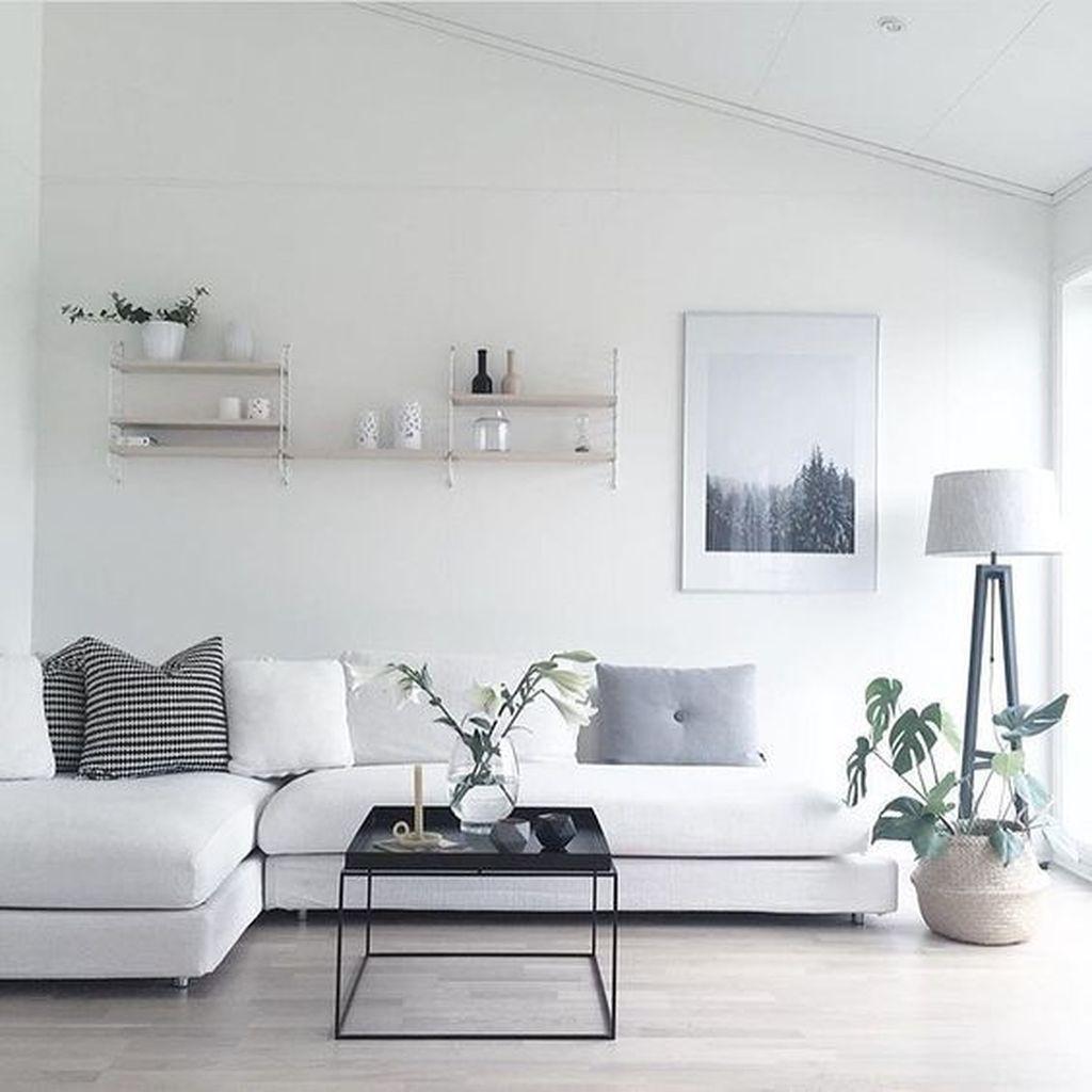 44 Simple And Elegant Scandinavian Living Room Decoration Ideas ...
