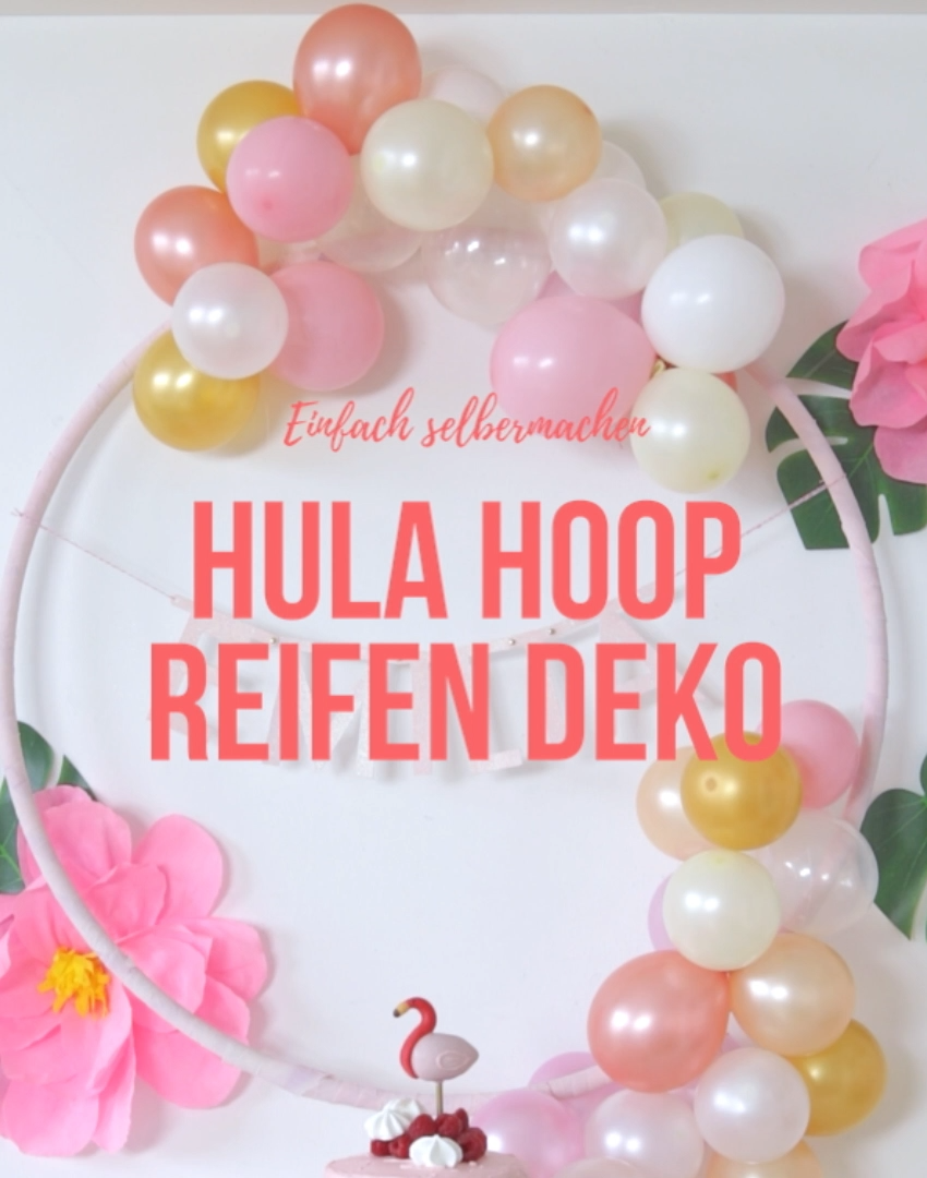 Photo of DIY: Instructions for a hula hoop balloon decoration