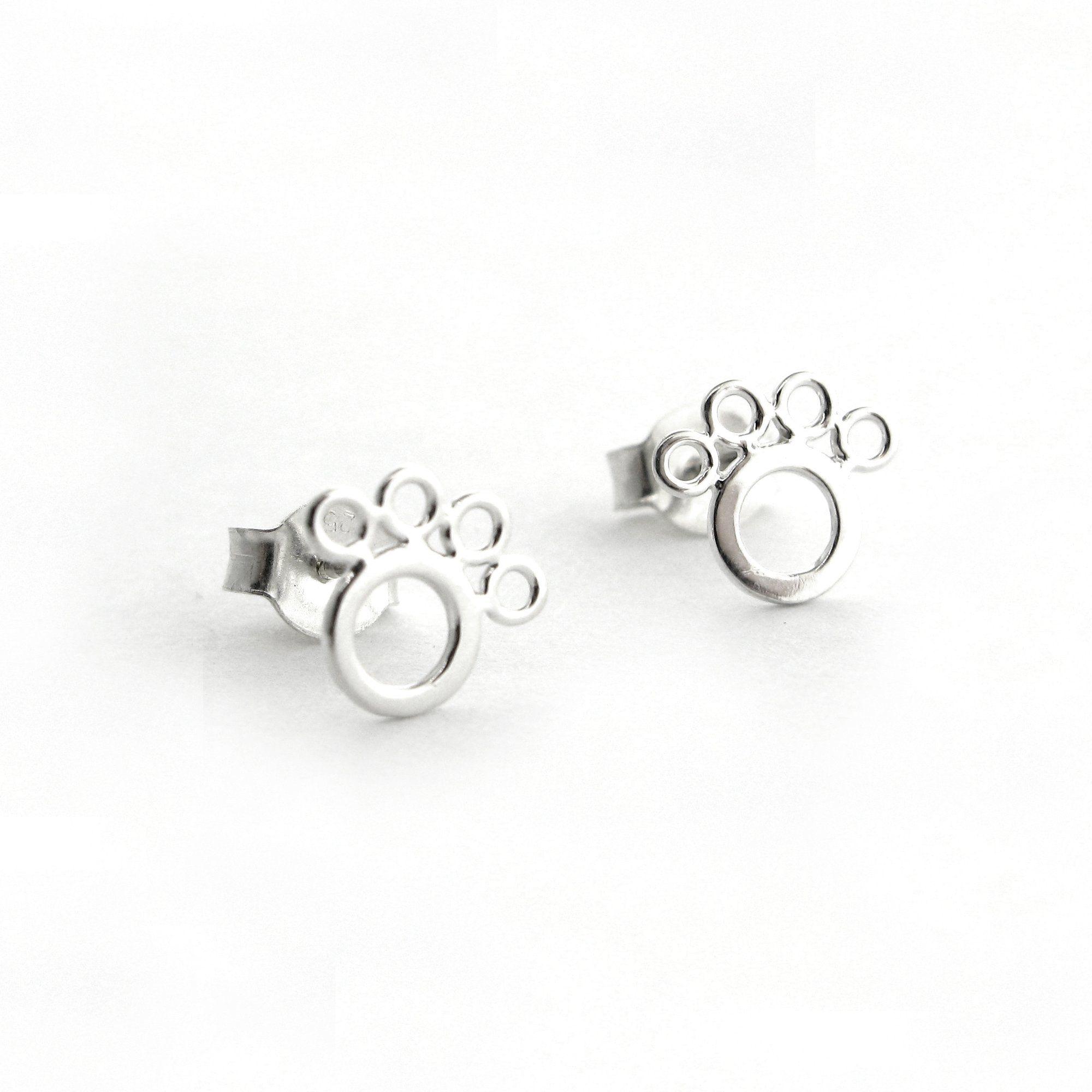 Open Paw Print Earrings Paw print earrings, Paw print
