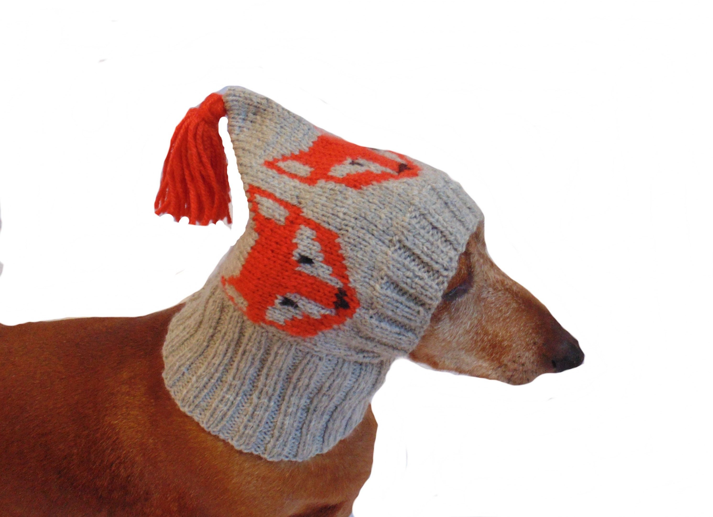Fox Hat For A Small Dog Hat For Dogs Fox Hat Fox For Dog Winter