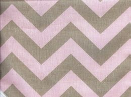 Pink and brown chevron for Meg's bedroom wall