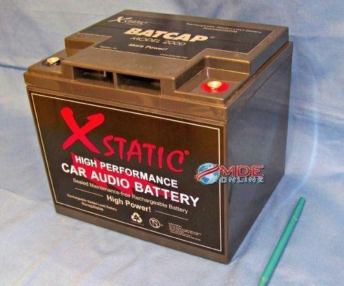 Xstatic   BatCap Model 2000 / Electric Car Battery 2000 Amp Battery! #XstaticBatcap
