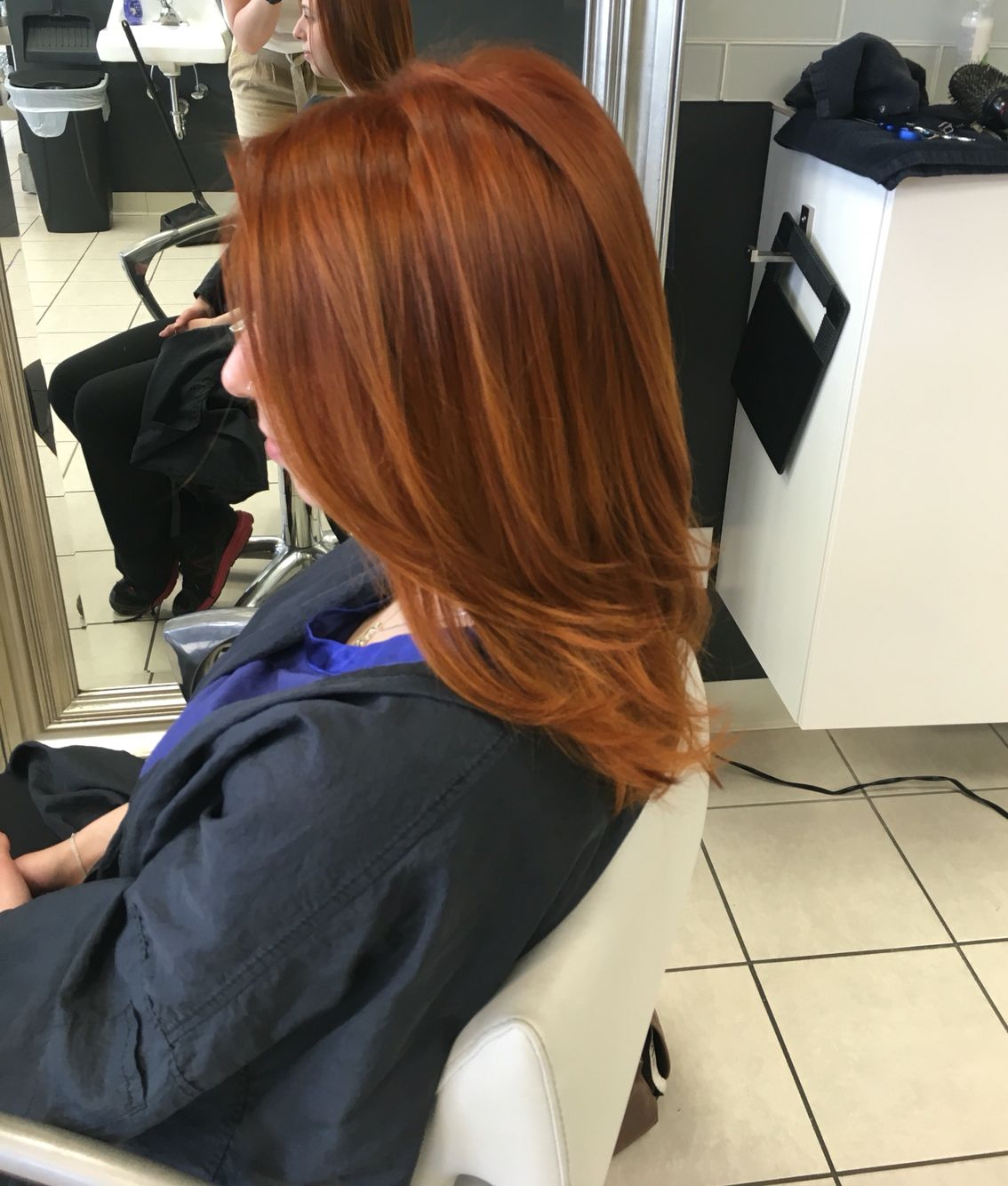 Awesome Gold Red Hair Color Using Wella 7 34 6 34 7 4 20