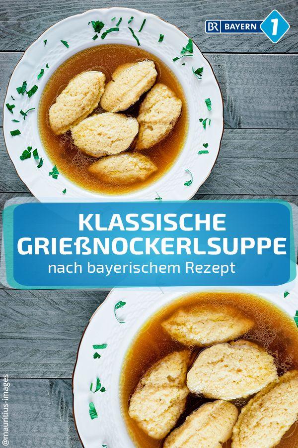 Bayerische Grießnockerlsuppe