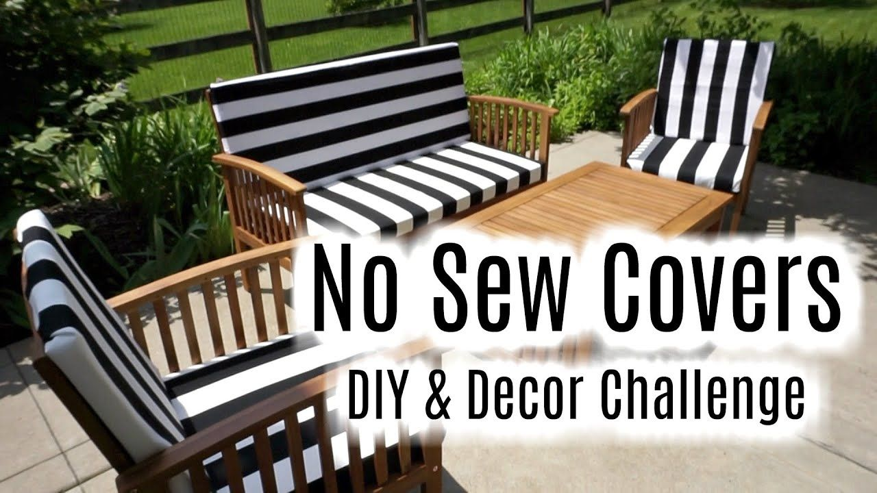 Diy decor challenge glue velcro outdoor cushion