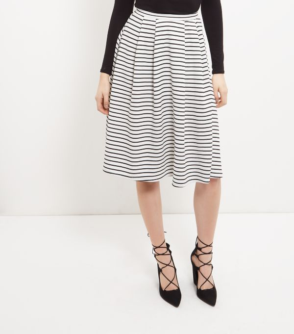 Black Stripe Balloon Midi Skirt | Shops, Women's skirts and Skirts