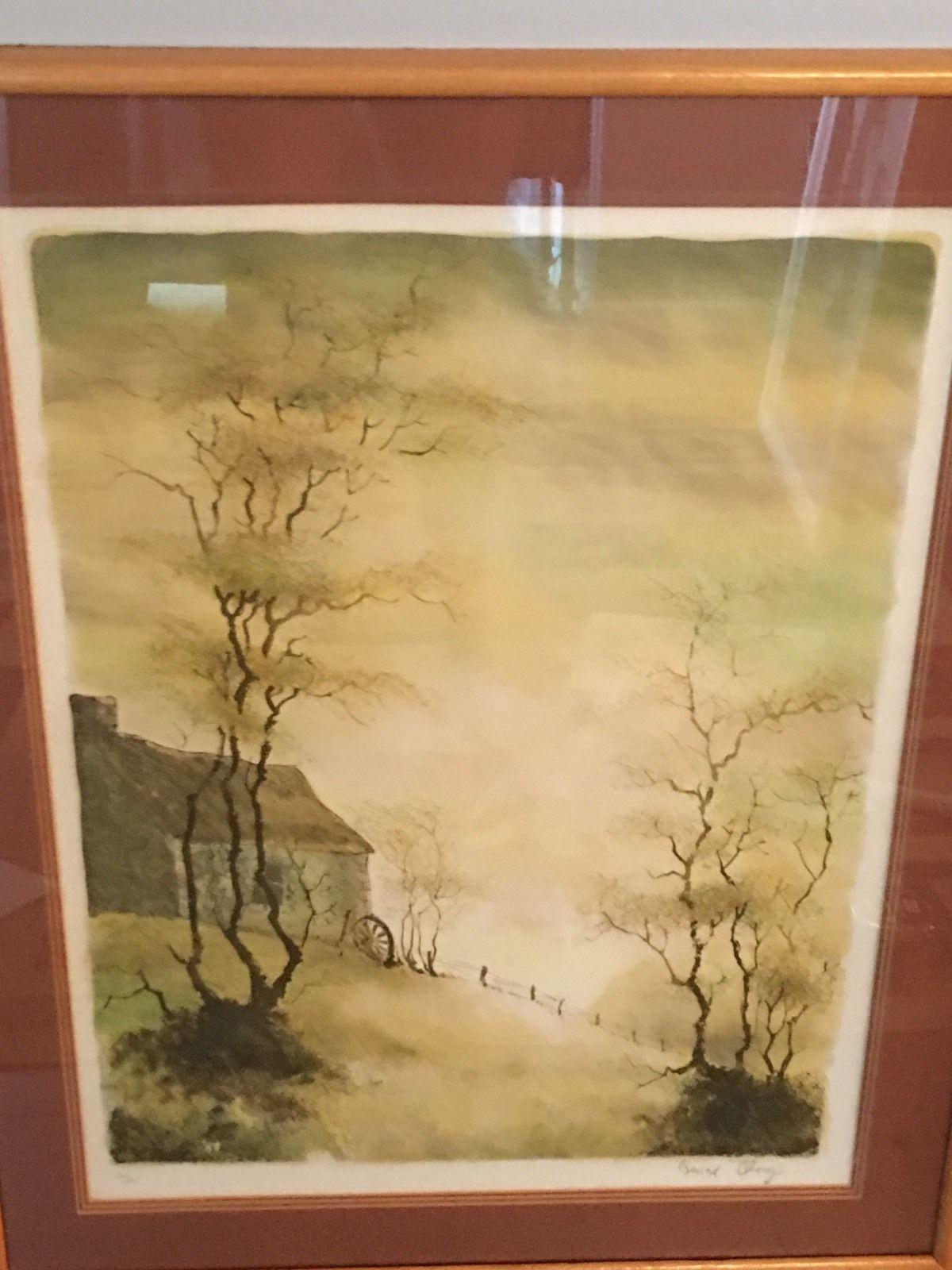 For sale we have a framed, artist signed print. Signed in lower ...