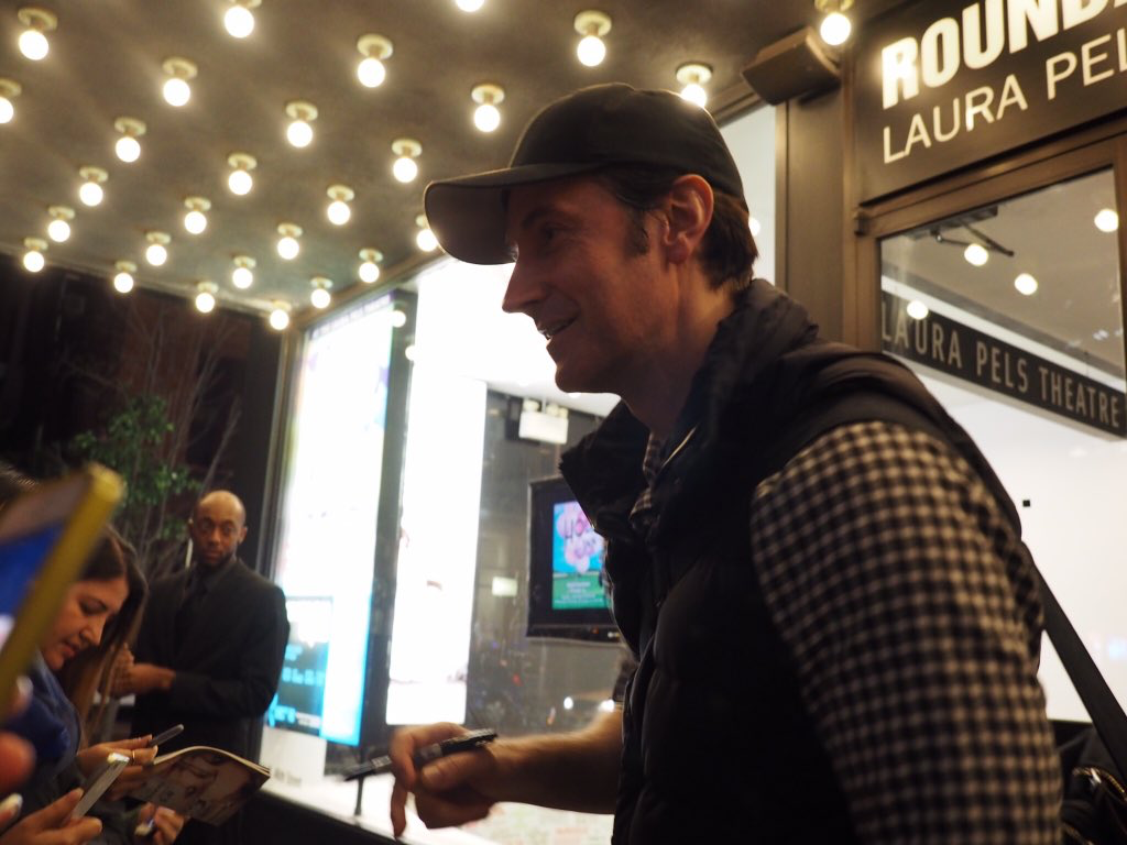 RA at Stage door after LLLplay in NYC - November, 2 2016