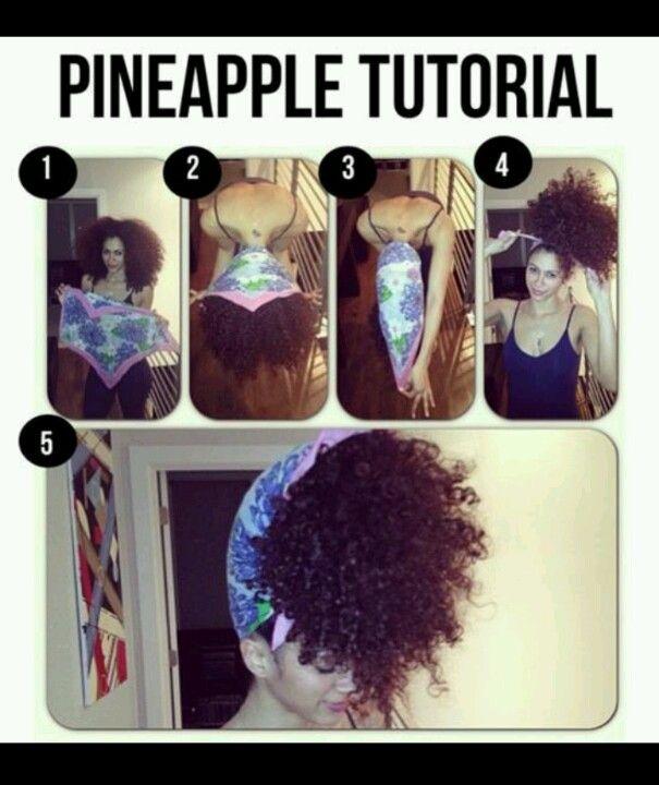 Pineapple Headwrap Tutorial Curly Hair Styles Natural Hair Styles Curly Hair Styles Naturally
