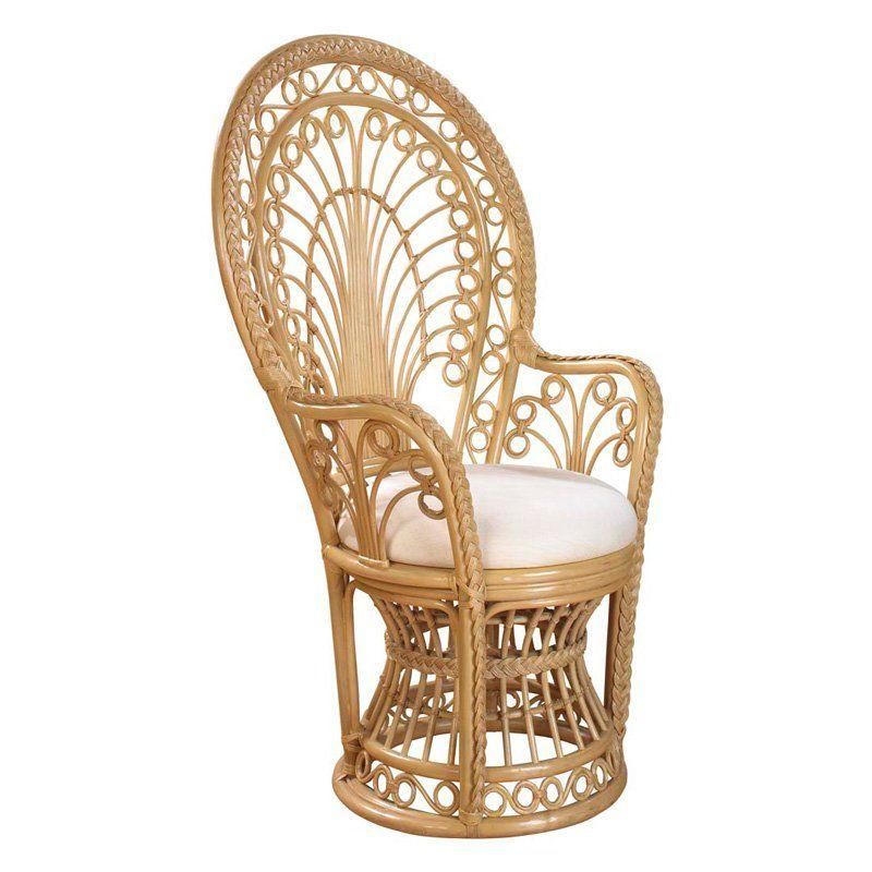Tropical Escape La Banane St Barts Savvy Home Wicker Peacock Chair Rattan Furniture