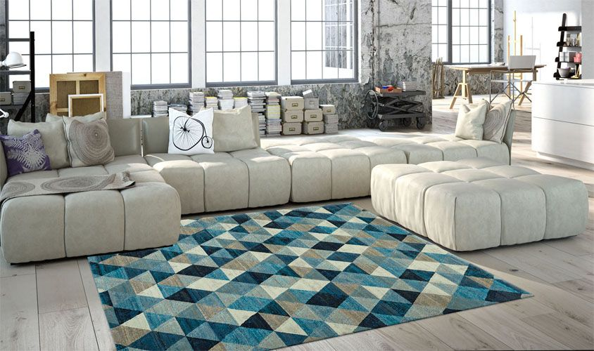 Tappeto azzurro collezione LAGUNA 632635161 (con immagini