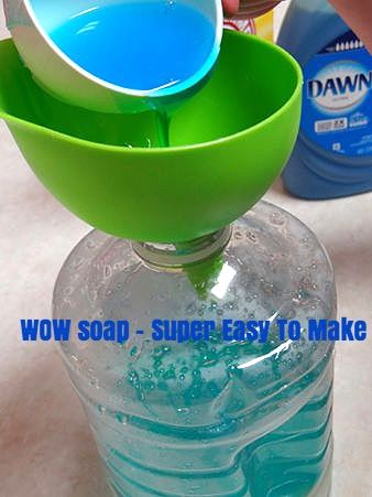 DIY laundry soap that has powerful odor and stain fighting ingredients. It's also super cheap to make!