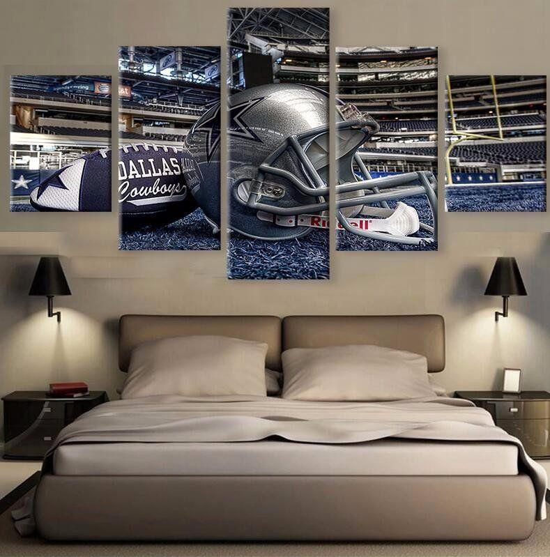 Dallas Cowboys Football Stadium 5 piece HD Wall Art - Limited ...
