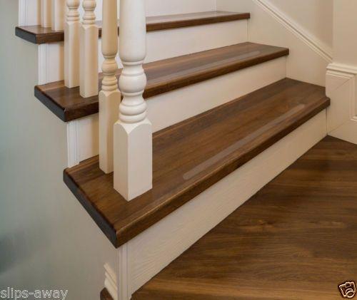 Non Slip Anti Skid Clear Black Textured Stair Hallway Floor Treads