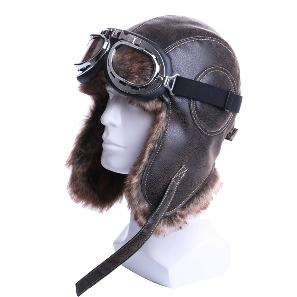 Men s Russian Winter Ushanka Hat with Goggles Price  44.88   FREE Shipping   hashtag1 a61460ba02d