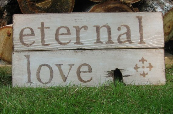 Reclaimed wood sign Love Story Wall stencil by truelovecreates