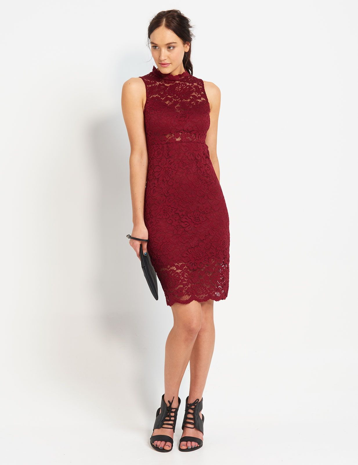 Lyric Lace Midi Bodycon Dress | Dotti | sleeveless lace dresses ...