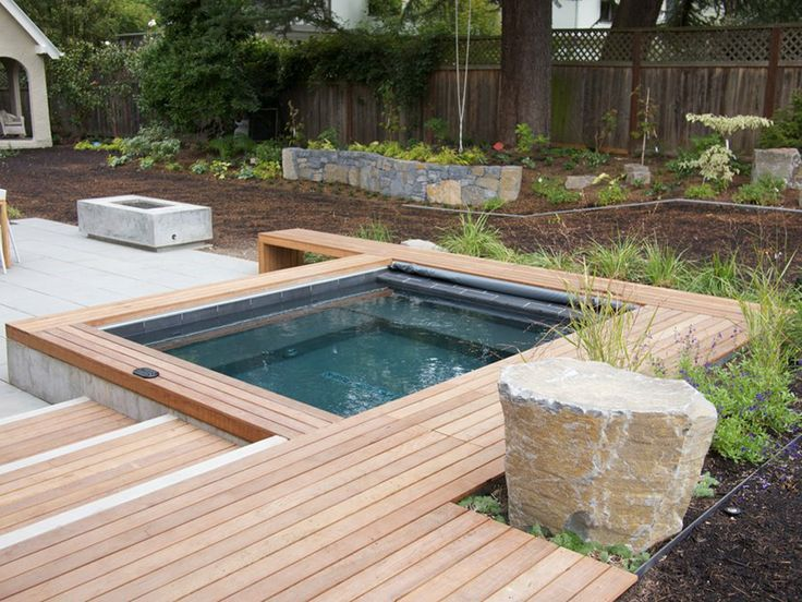 Modern Built In Tub Wood Slats Concrete With Images Hot