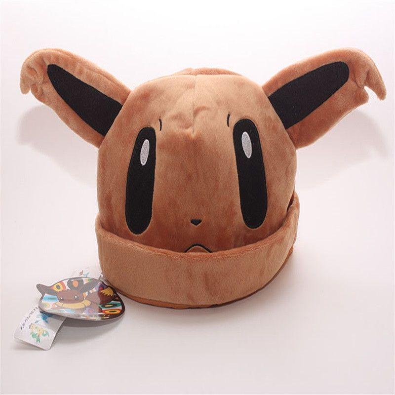 349ee83b0d9 Pokemon Fun Plush Hats 9 Styles Sylveon Umbreon Eevee Espeon Jolteon  Vaporeon Flareon Glaceon Leafeon (adult size)