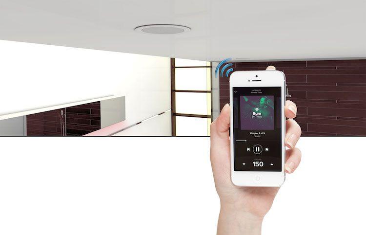 Zone Denmark Badkamer : Badkamer wifi inbouw speakers badkamer accessoires gespot door
