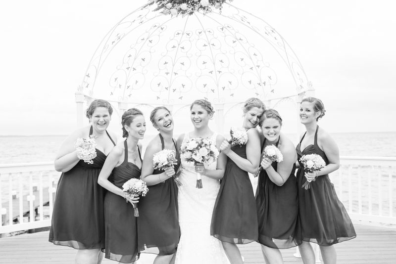 Waterfront wedding at Celebrations at the Bay in Pasadena, Maryland by Britney Clause Photography