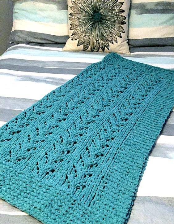 Free Knitting Pattern for 6 Row Repeat Soft Vines Baby ...