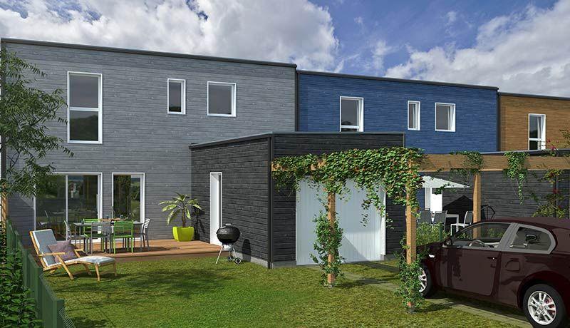 Maison T4 à vendre à St Mars de Coutais Bardage bois Pinterest
