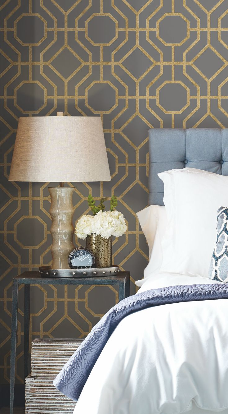 LANAI TRELLIS wallpaper by Candice Olson for York