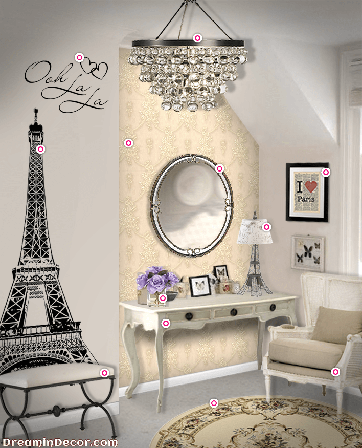 The Ultimate Decor for a Paris Themed Bedroom … | Amberise idea for ...