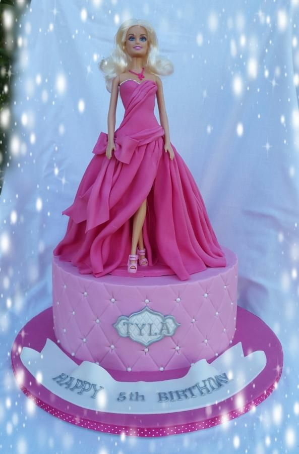 Cake By Kim Berriman Princess Barbie Cake Barbie Cake Ideas