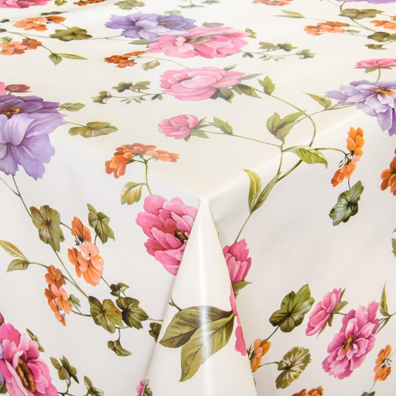 Wachstuch Wachstischdecke Tischdecke Abwaschbar Blumen Hellbeige 160 X 140cm Amazon De Kuche Haus Mit Bildern Wachstischdecke Tischdecke Abwaschbar Wachstuch