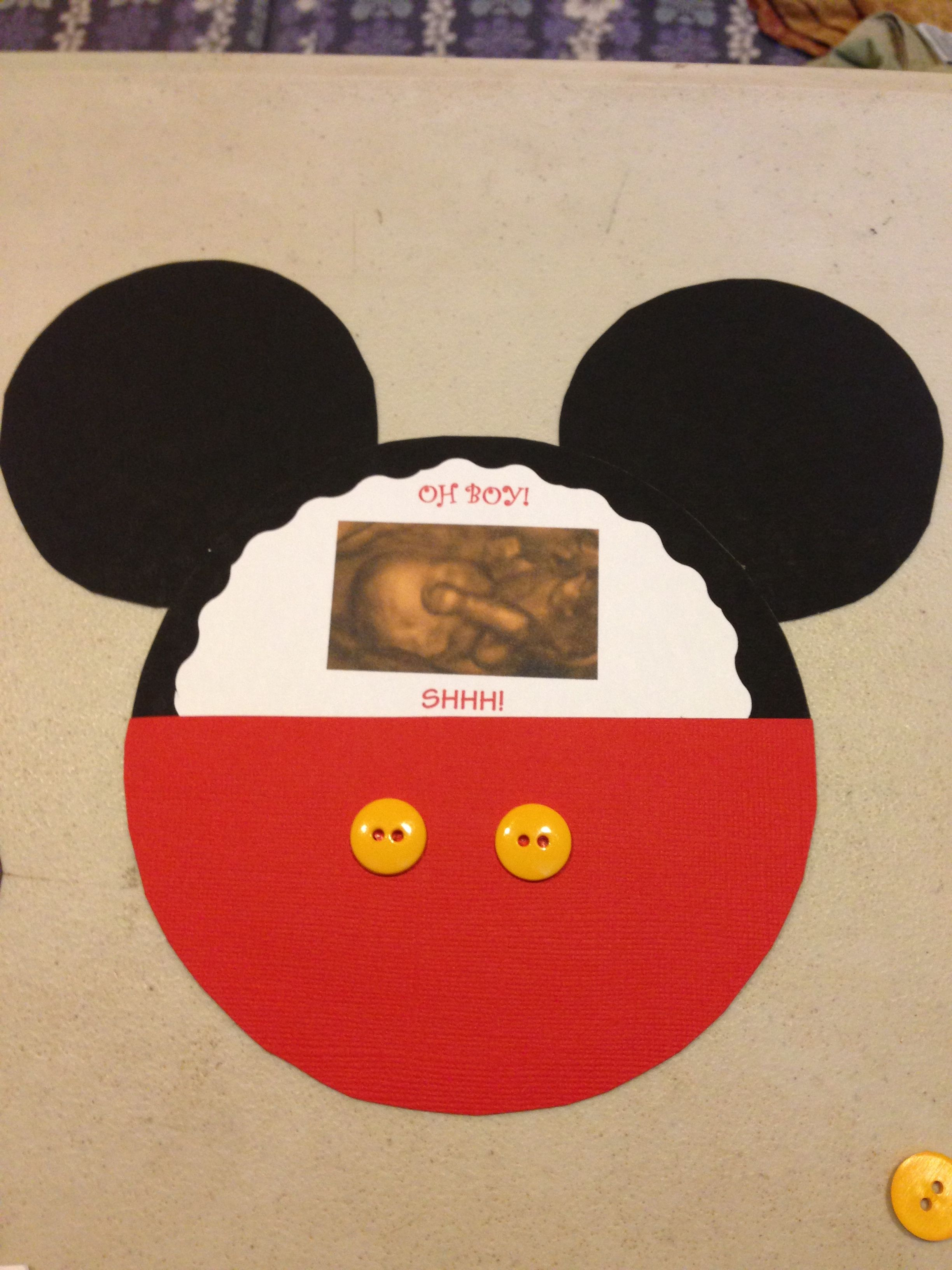 Just made my own mickey mouse baby shower invitations diy baby just made my own mickey mouse baby shower invitations diy filmwisefo