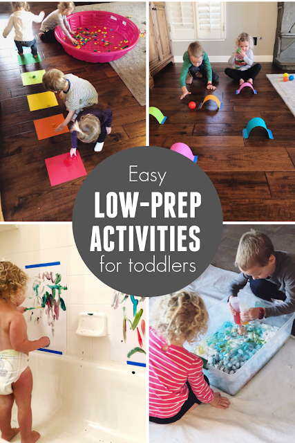Quick & Easy Low-Prep Activities for Toddlers (With images ...