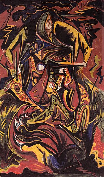 Jackson Pollock's Composition with Woman - 1934 - Oil on Masonite