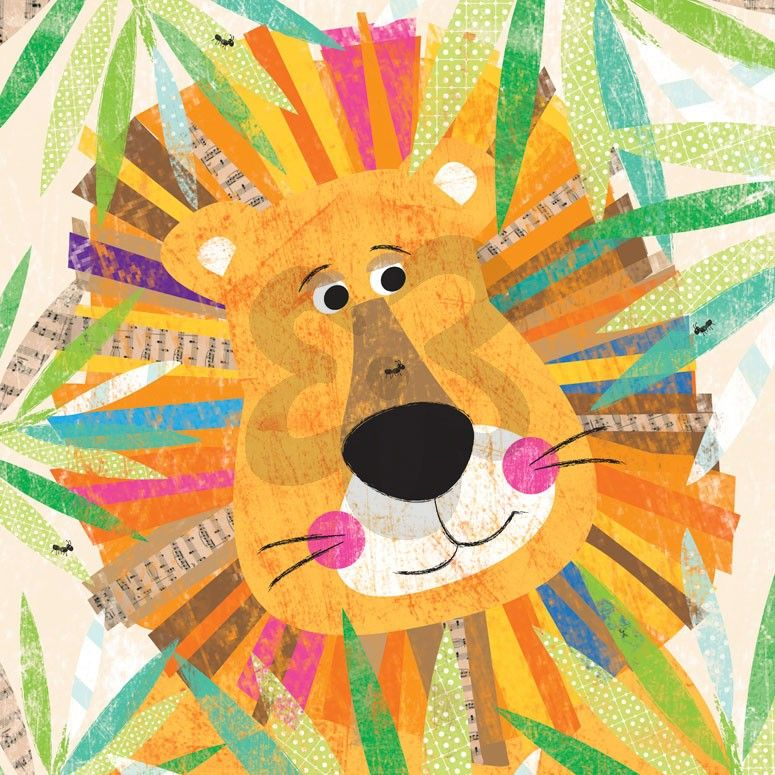 Peeking Jungle Buddies Lion Art For Kids Art Wall