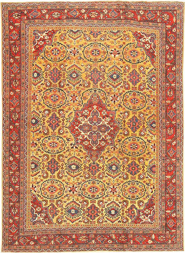 A Gold Color Room Size Antique Persian Sarouk Farahan Rug 2227 Rugs Rugs On Carpet Antique Persian Rug