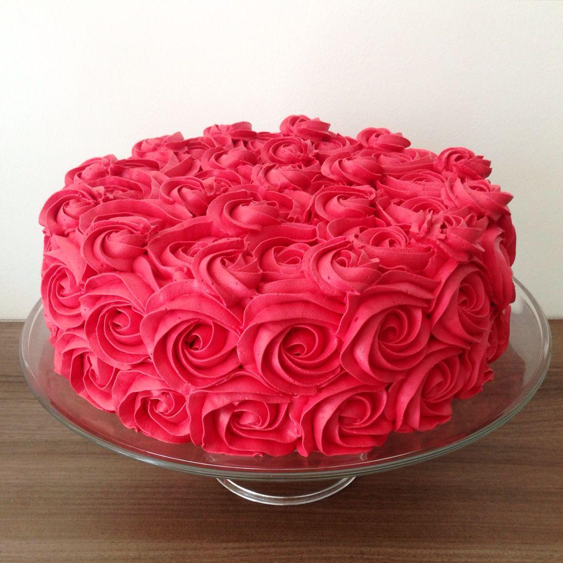Chantininho Em Rosas Vermelhas Red Bolo Vermelho Bolo Dia Dos